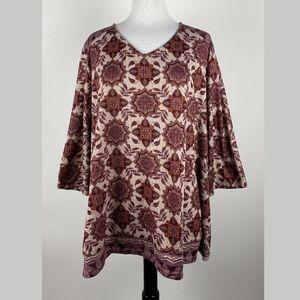 Catherines V-Neck Blouse Shirt